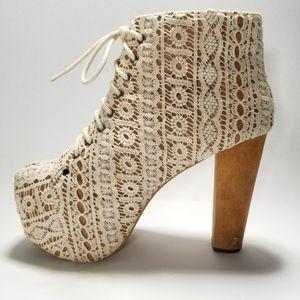 ⚡SALE⚡Jeffrey Campbell LITA Crochet Booties 8.5